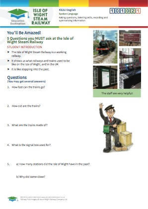Click to view Resource 101021 5 Questions you must ask at the Isle of Wight Steam Railway