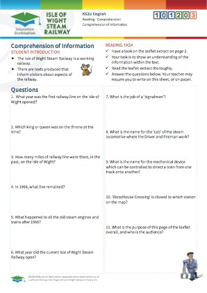 Click to view Resource 101203 Comprehension of Information - Interpreting Texts