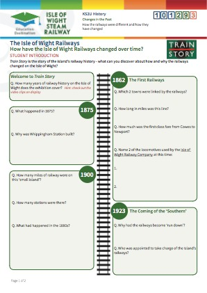 Click to view Resource 101293 How have the Isle of Wight Railways changed over time?