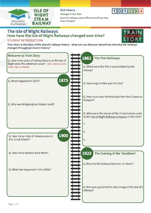 Click to view Resource 101294 How have the Isle of Wight Railways changed over time?