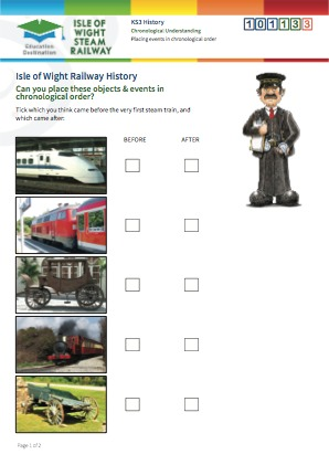 Click to view Resource 101133 Placing Railway events in chronological order