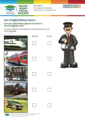 Click to view Resource 101134 Placing Railway events in chronological order