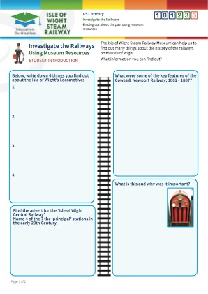 Click to view Resource 101233 Investigate the Railways!