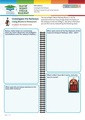Click to view Resource 101234 Investigate the Railways!