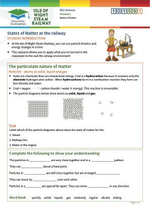 Click to view Resource 101591 States of matter at the railway