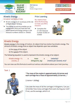 Click to view Resource 101412 Kinetic energy in action