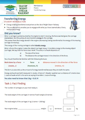 Click to view Resource 101632 Transferring Energy