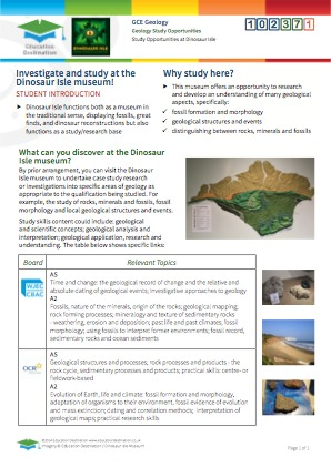Click to view Resource 102371 Geology study opportunities