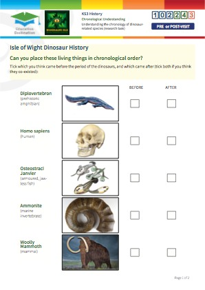 Click to view Resource 102243 Understanding the chronology of dinosaur-related species