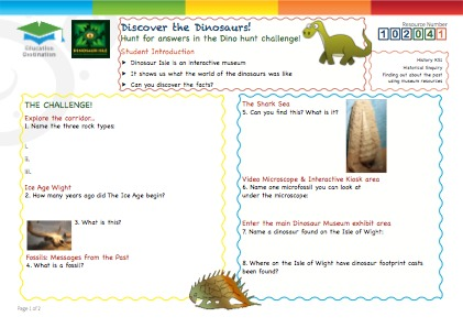 Click to view Resource 102041 Discover the Dinosaurs!