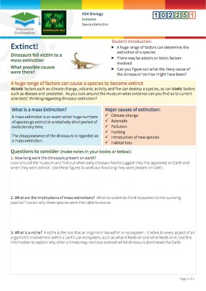 Click to view Resource 102251 Species Extinction