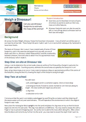 Click to view Resource 102381 Weigh a Dinosaur!