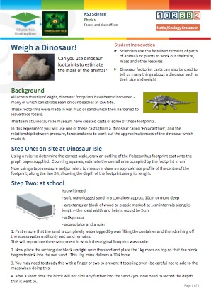 Click to view Resource 102382 Weigh a Dinosaur!