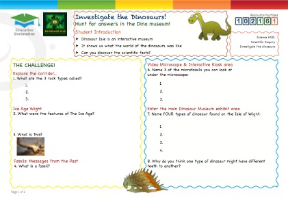 Click to view Resource 102161 Investigate the Dinosaurs!