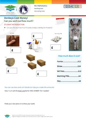 Click to view Resource 104131 Calculating Donkey Costs!