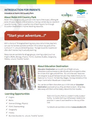 Parents overview for Robin Hill Country Park