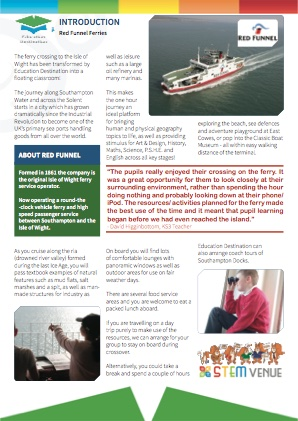Venue overview for Red Funnel Ferries