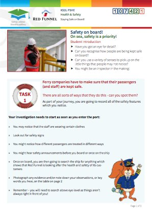 Click to view Resource 107421 Managing Risk! Staying Safe on board
