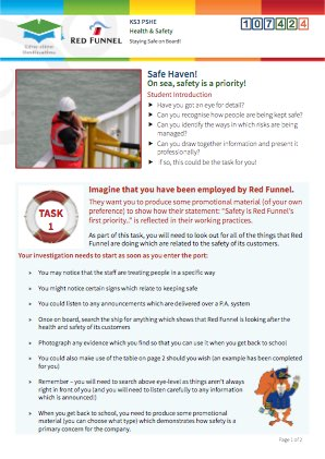 Click to view Resource 107424 Managing Risk! Staying Safe on board.