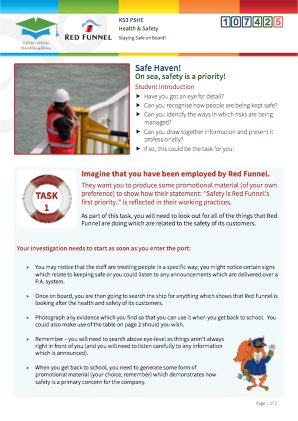 Click to view Resource 107425 Managing Risk! Staying Safe on board