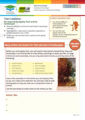 Click to view Resource 108071 Tree Creations - Artistic Response to Appley Park & Trees