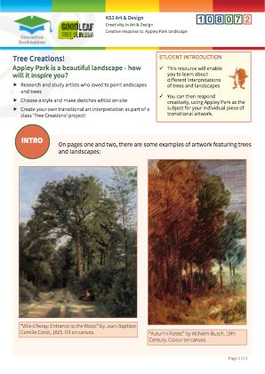 Click to view Resource 108072 Tree Creations - Artistic Response to Appley Park & Trees