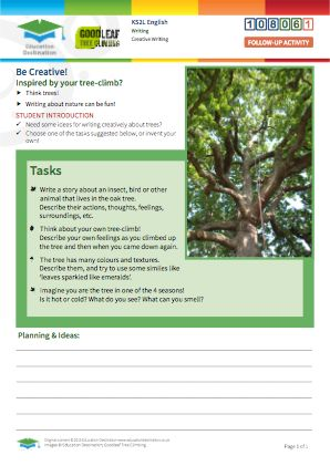 Click to view Resource 108061 Be Creative! Tree-inspired composition tasks...