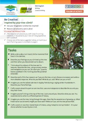 Click to view Resource 108063 Be Creative! Tree-inspired composition tasks...