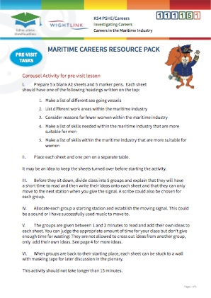 Click to view Resource 111151 Investigating Maritime Careers