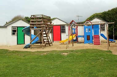 Typical Isle of Wight school trip holiday camp accommodation