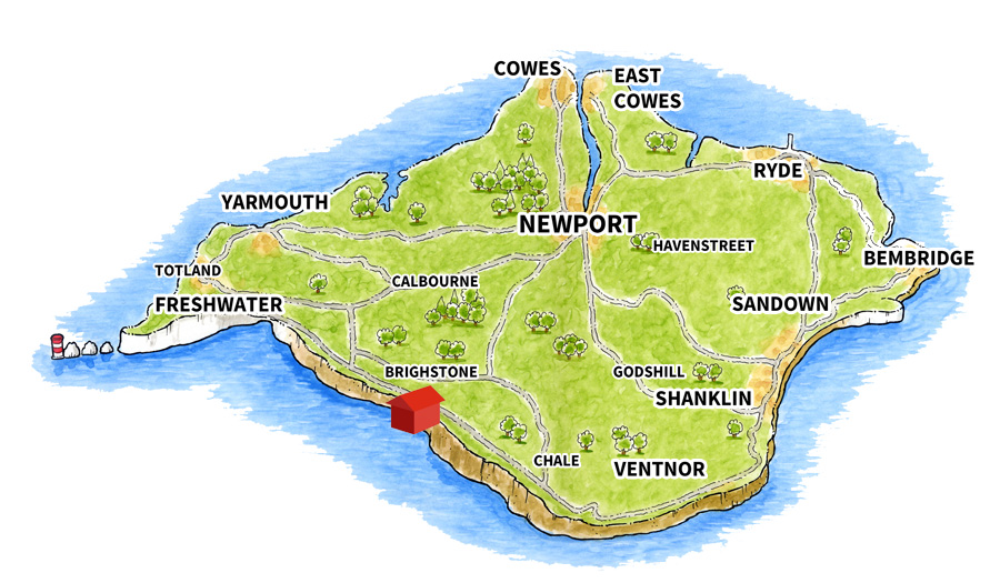 Map of Brighstone Holiday Centre