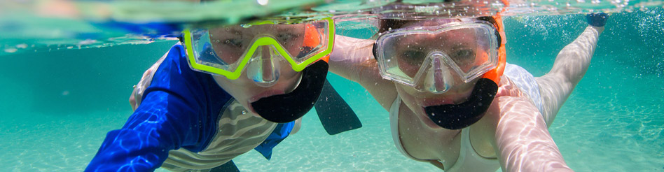 Isle of Wight fun group activity Pool Snorkelling