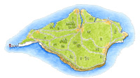 Illustrated Isle of Wight Map (small)