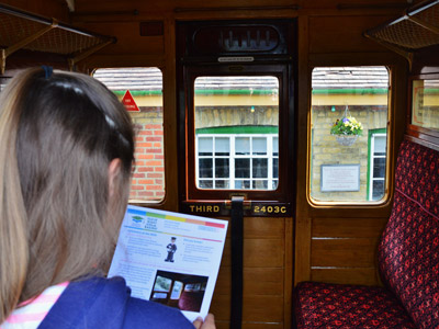 Education Destination teaching resource in use at Isle of Wight Steam Railway