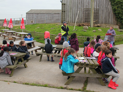 Education Destination teaching resource in use at Isle of Wight Donkey Sanctuary